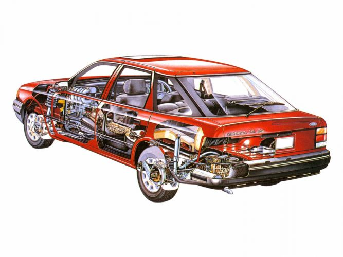 Ford Granada Hatchback cars technical wallpaper