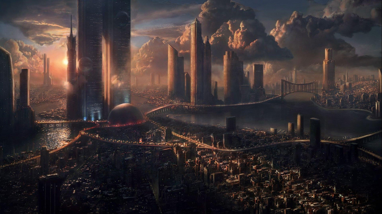art futuristic cities - photo #40