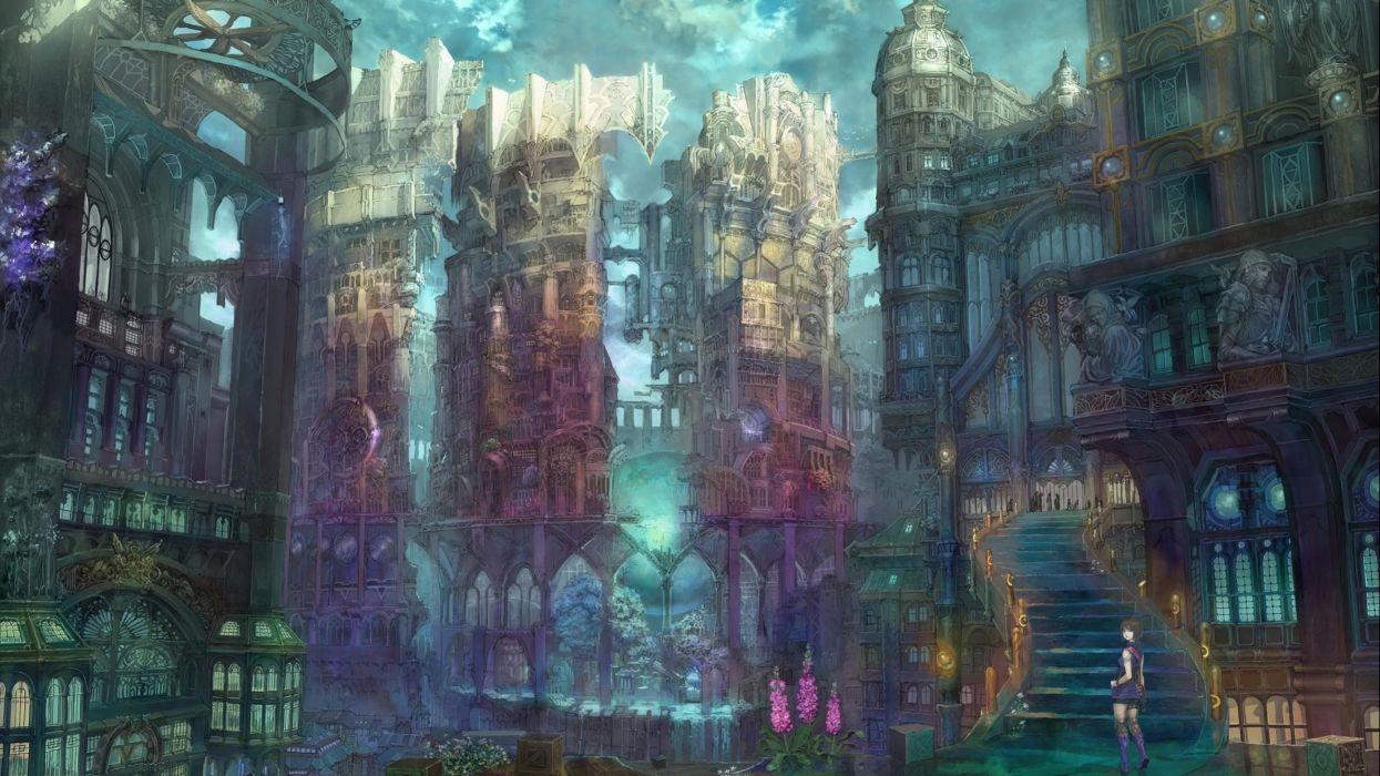 sci-fi futuristic city cities art artwork wallpaper