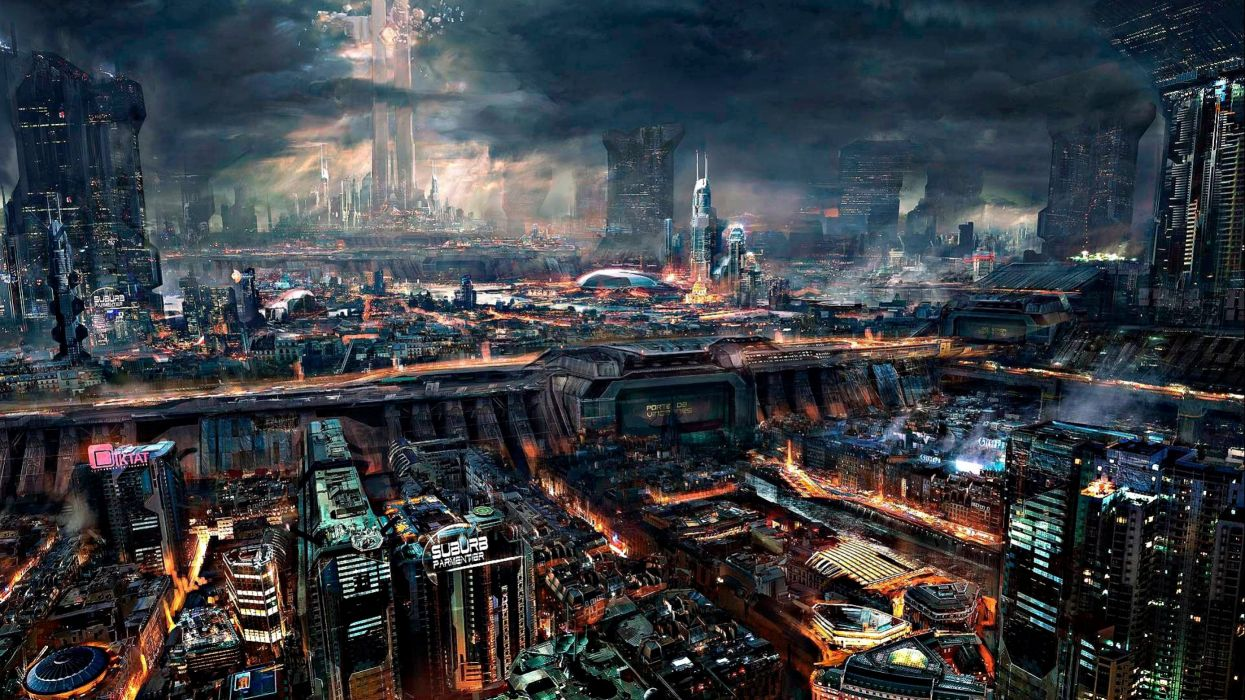 Sci Fi Futuristic City Cities Art Artwork Wallpaper