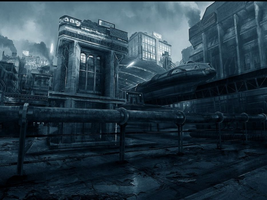 sci-fi futuristic city cities art artwork wallpaper