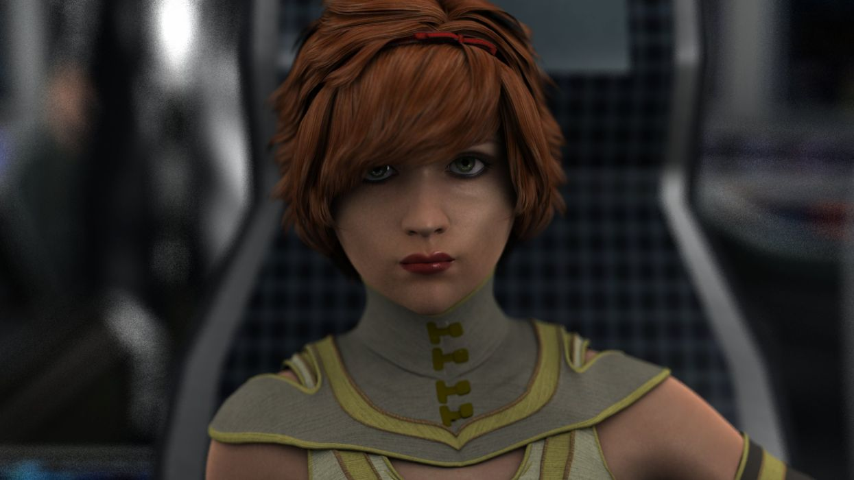sci-fu futuristic woman woman girl girls warrior art artwork wallpaper