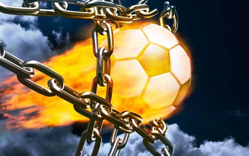 football fire goal shell shoot Chains fantasy imaginations cartoon anime wallpaper