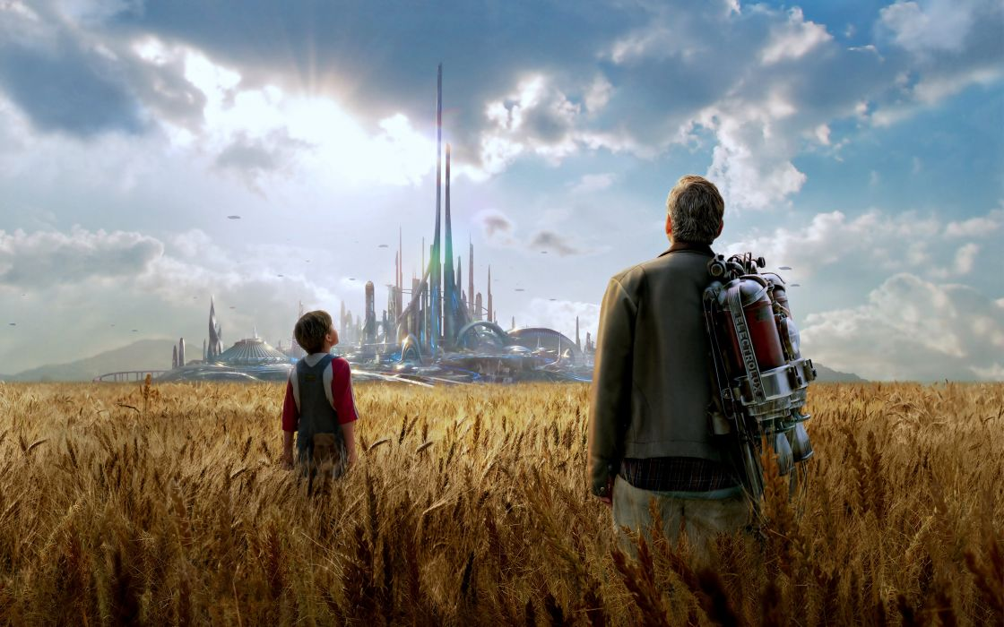 fantasy sky clouds fields nature earth people city UFO imaginations wild father son design wallpaper