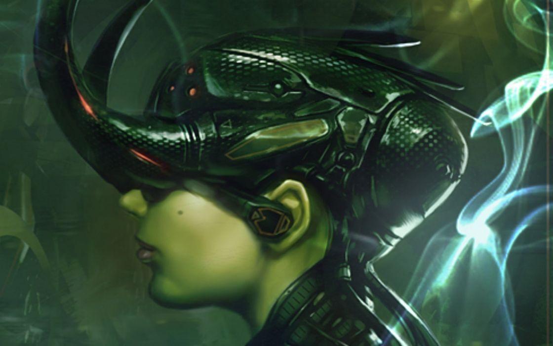 sci-fi futuristic woman woman girl girls art artwork wallpaper