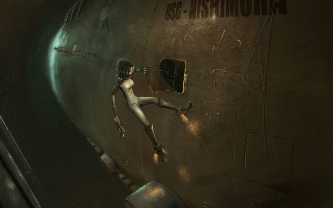 sci-fi futuristic woman woman girl girls art artwork wallpaper