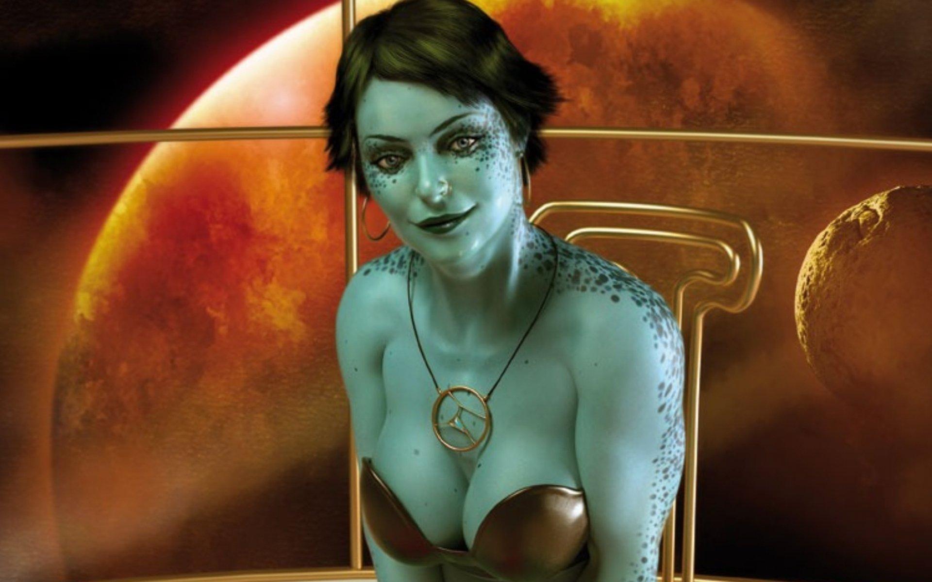 Sexy sci fi women nude image