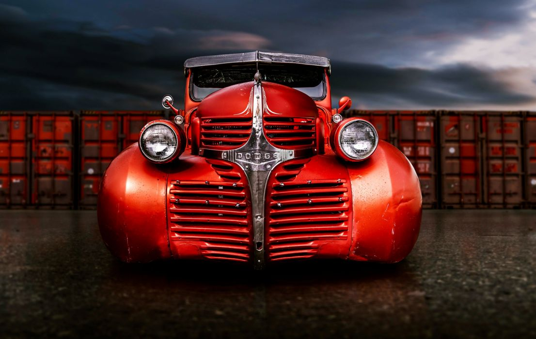 dodge old classic red motors cars trucks wallpaper