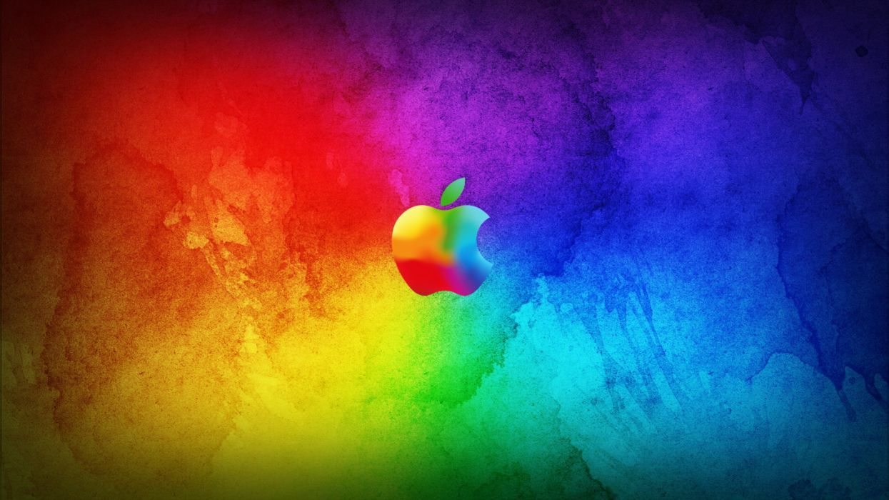 Apple background Colorful colors logo wallpapers Abstract wallpaper