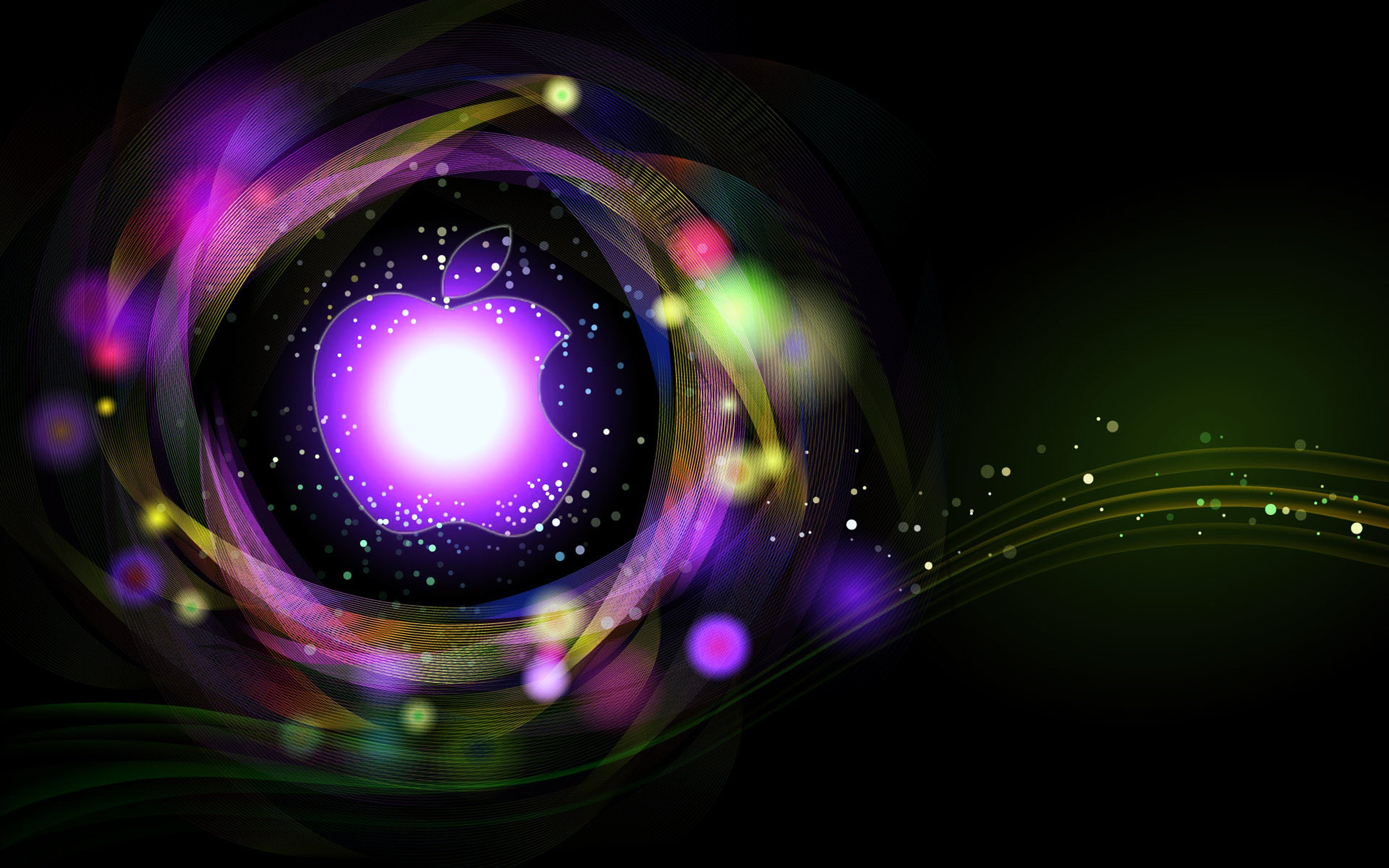 Apple background Colorful colors logo wallpapers Abstract ...