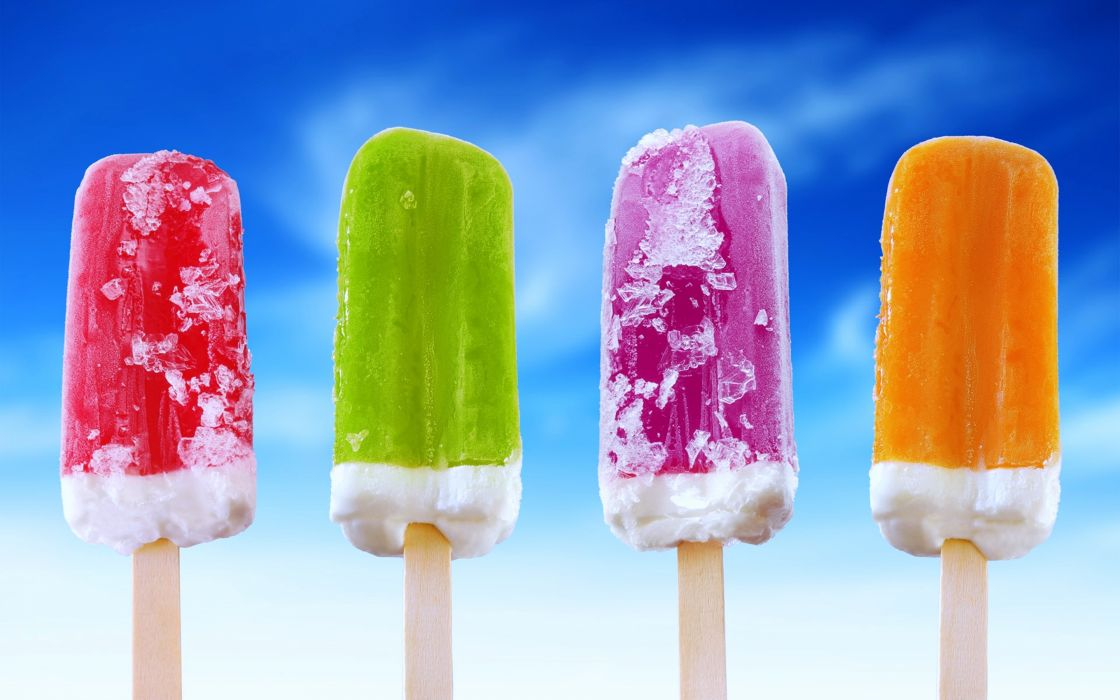 Ice cream sweets cold summer refreshments delicious sky joy wallpaper