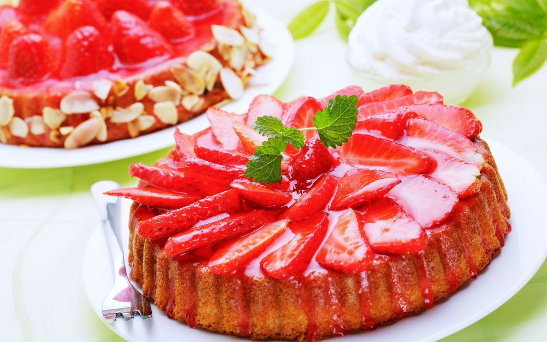 refreshments delicious fruit Table Strawberries cakes cups cream food party wallpaper
