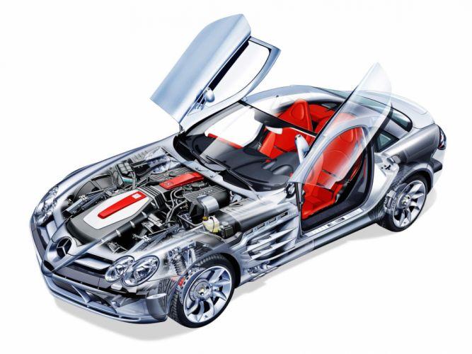Mercedes SLR McLaren cars technical wallpaper
