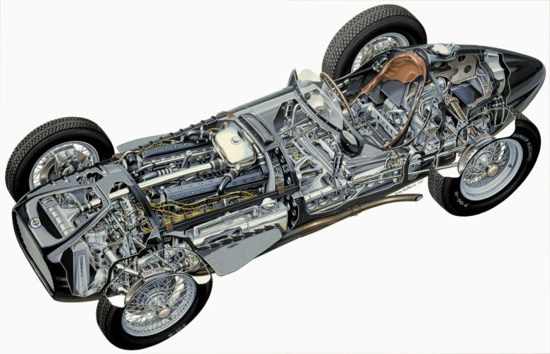 BRM V16 program cars technical wallpaper