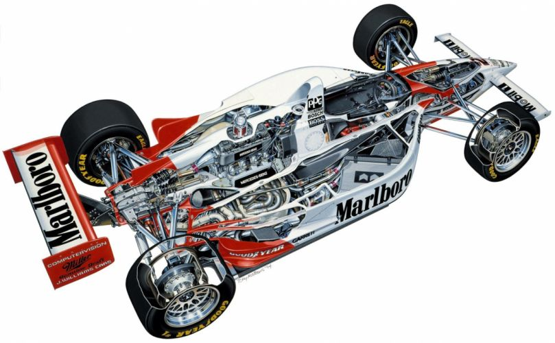 1994 Penske PC23 Indy car technical wallpaper