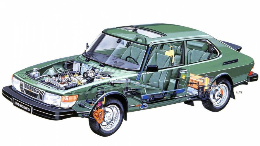 Saab 900 Turbo cars technical wallpaper