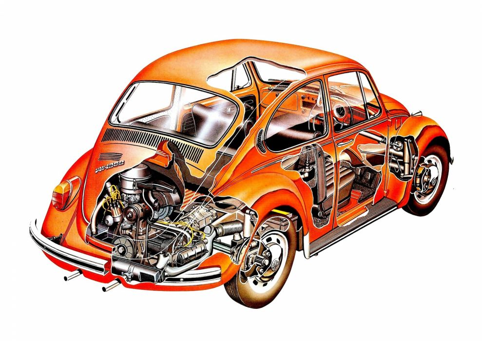 1967 VW bettle cars technical wallpaper