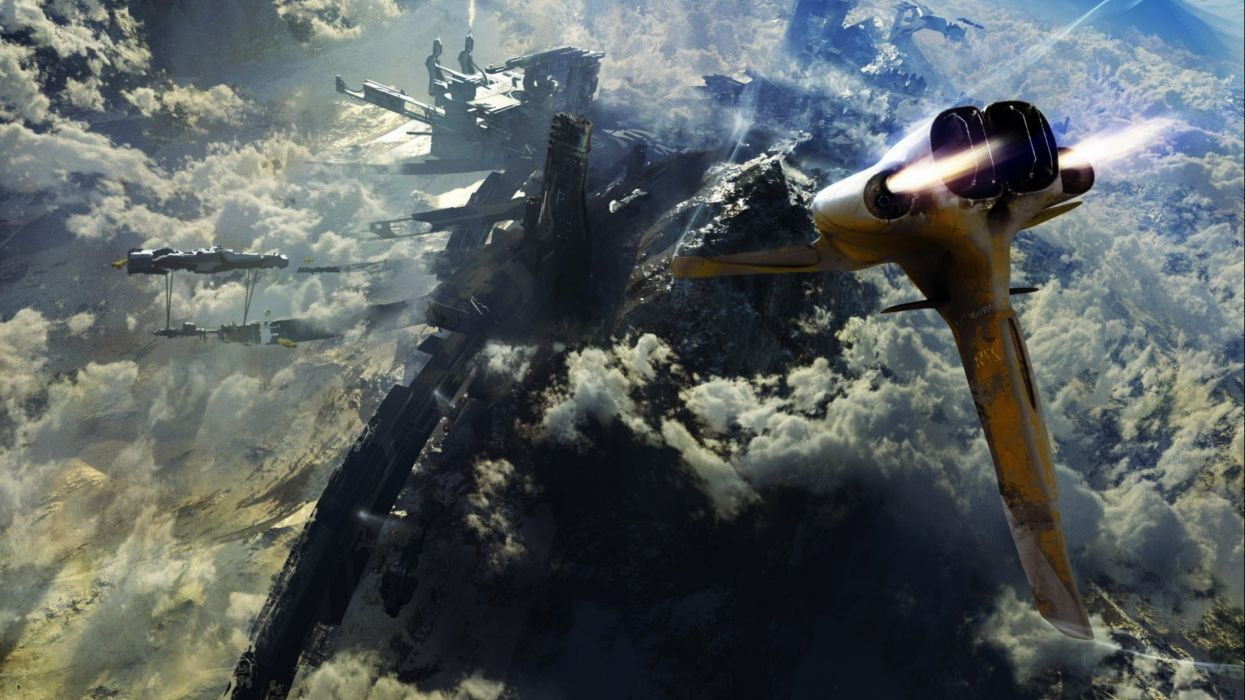 spaceship ship futuristic space art artwork wallpaper