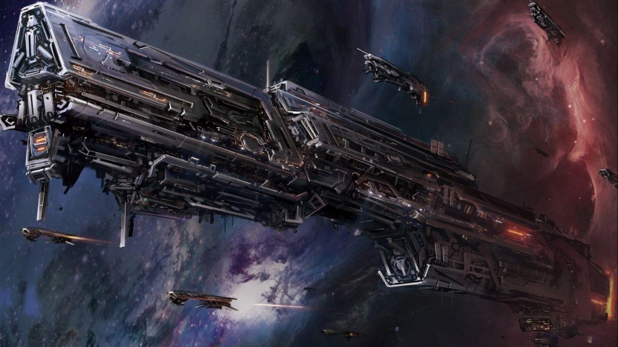 spaceship ship futuristic space art artwork wallpaper