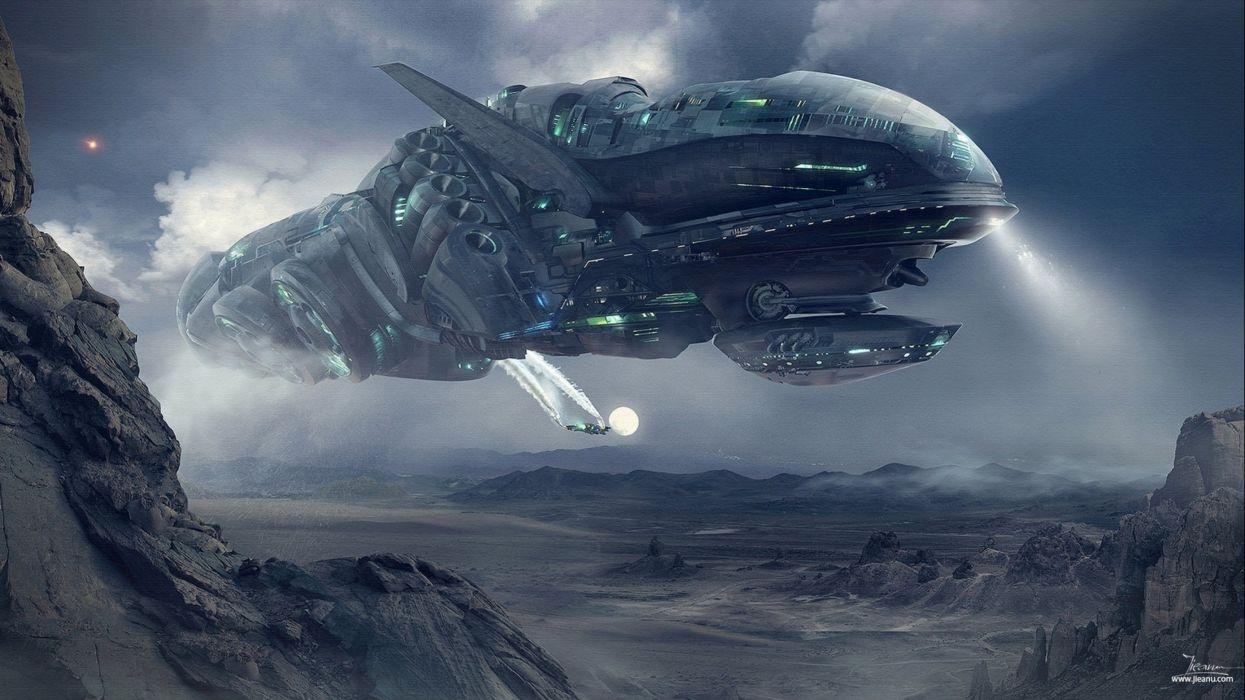Spaceship ship futuristic space art artwork wallpaper - Space wallpaper large ...