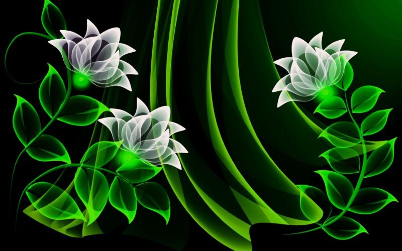Abstract background Colorful colors Glowing wallpapers ART flowers green wallpaper