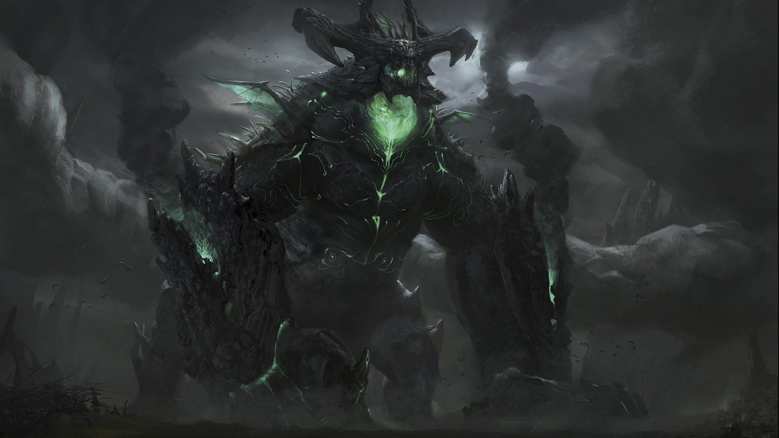 Space Demonic Art Hd Wallpaper: Fantasy Demon Dark Art Artwork Wallpaper
