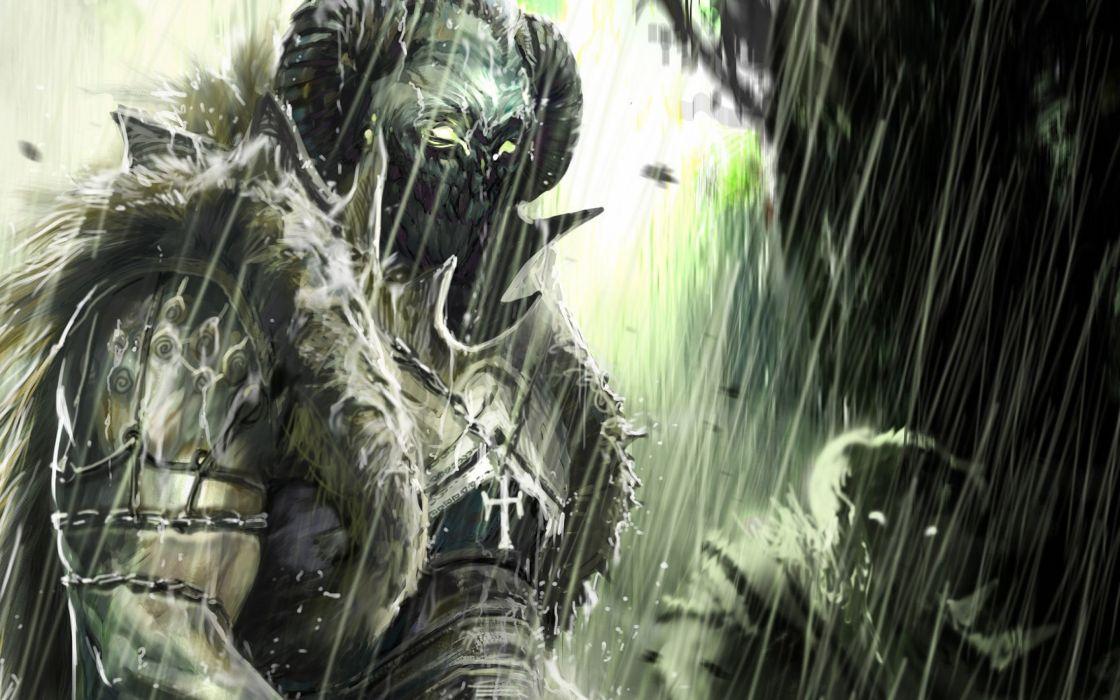 fantasy demon dark art artwork wallpaper