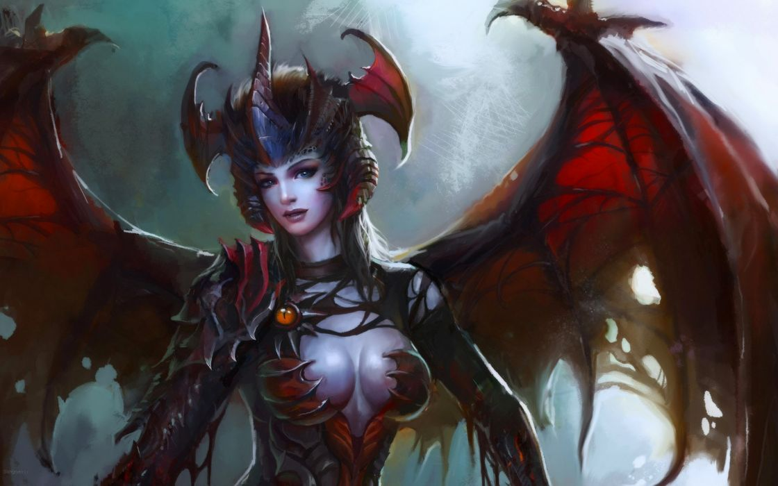 fantasy demon dark art artwork wallpaper