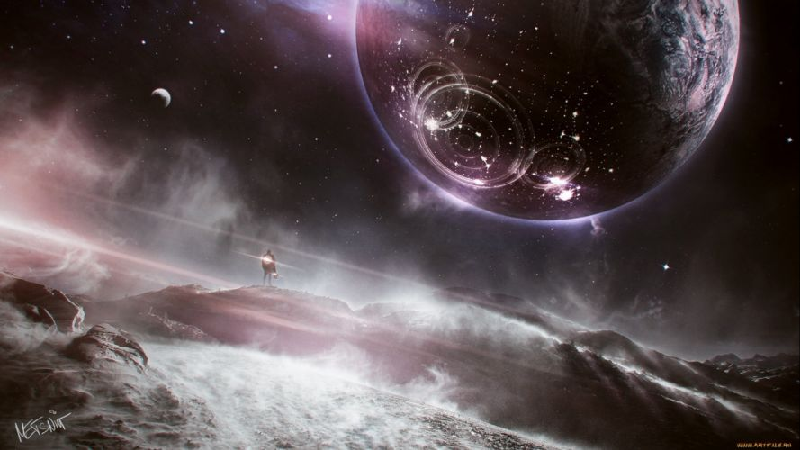 Planetscape sci-fi planet landscape space art artwork wallpaper
