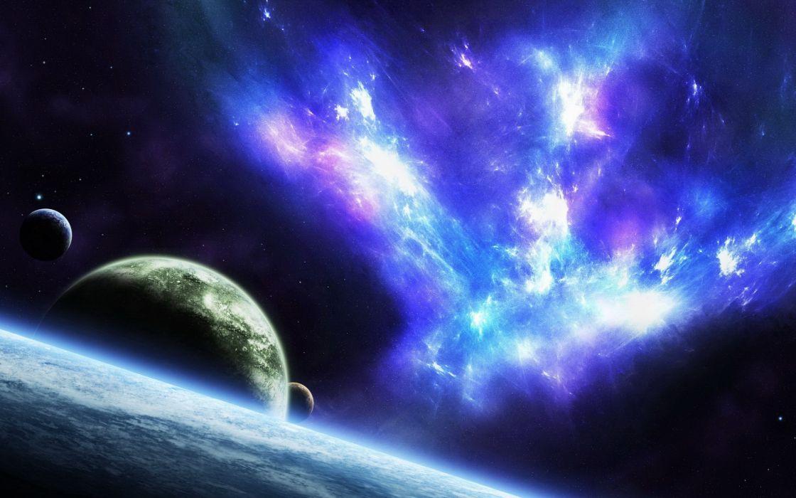 Planetscape sci-fi planet landscape space art artwork wallpaper