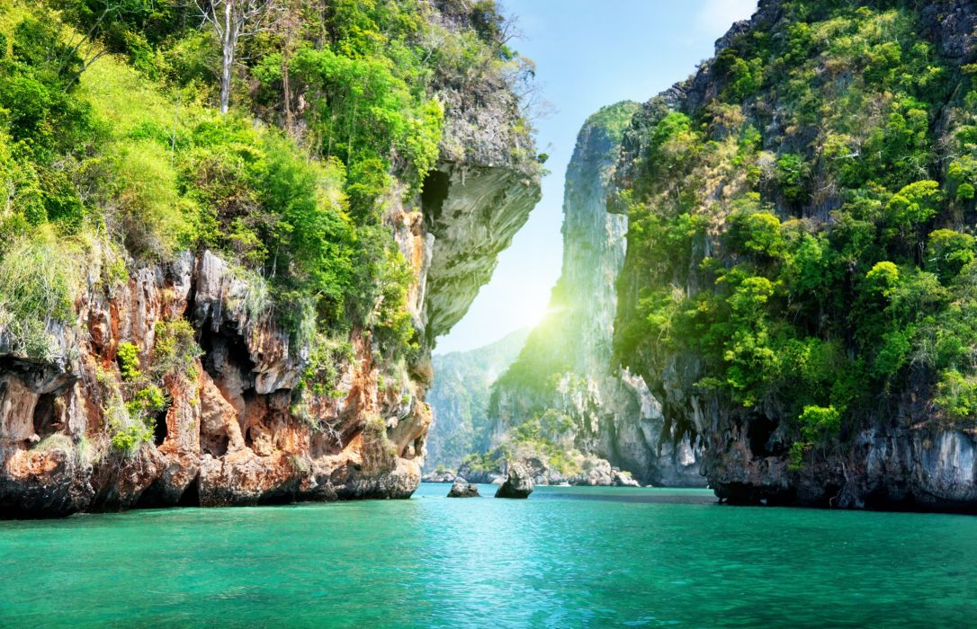 naturaleza catarartas islas oceano wallpaper