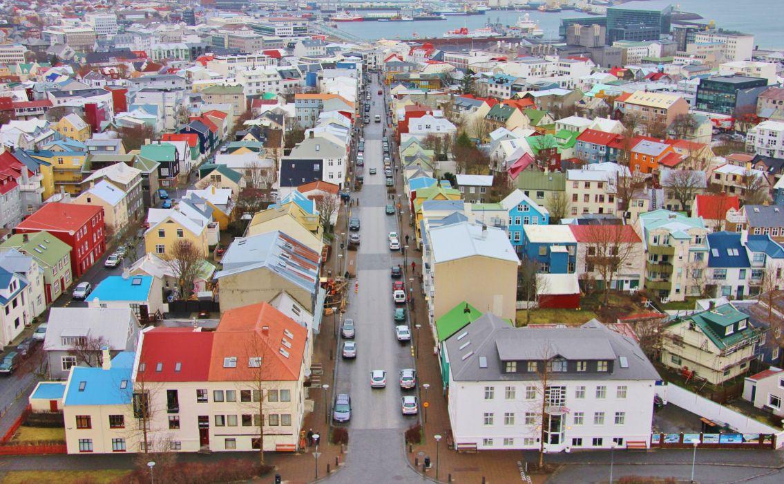 reykjavik islandia europa ciudad edificios wallpaper