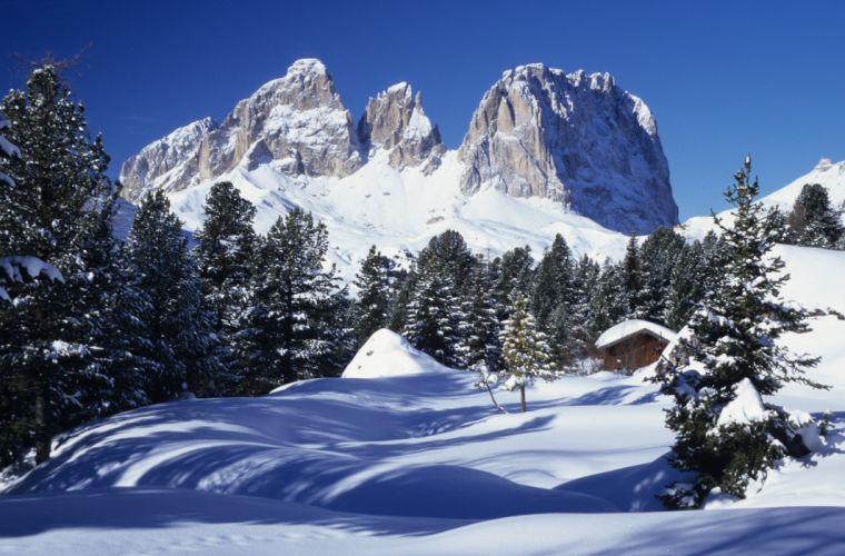 paisaje nieve naturaleza montaA wallpaper