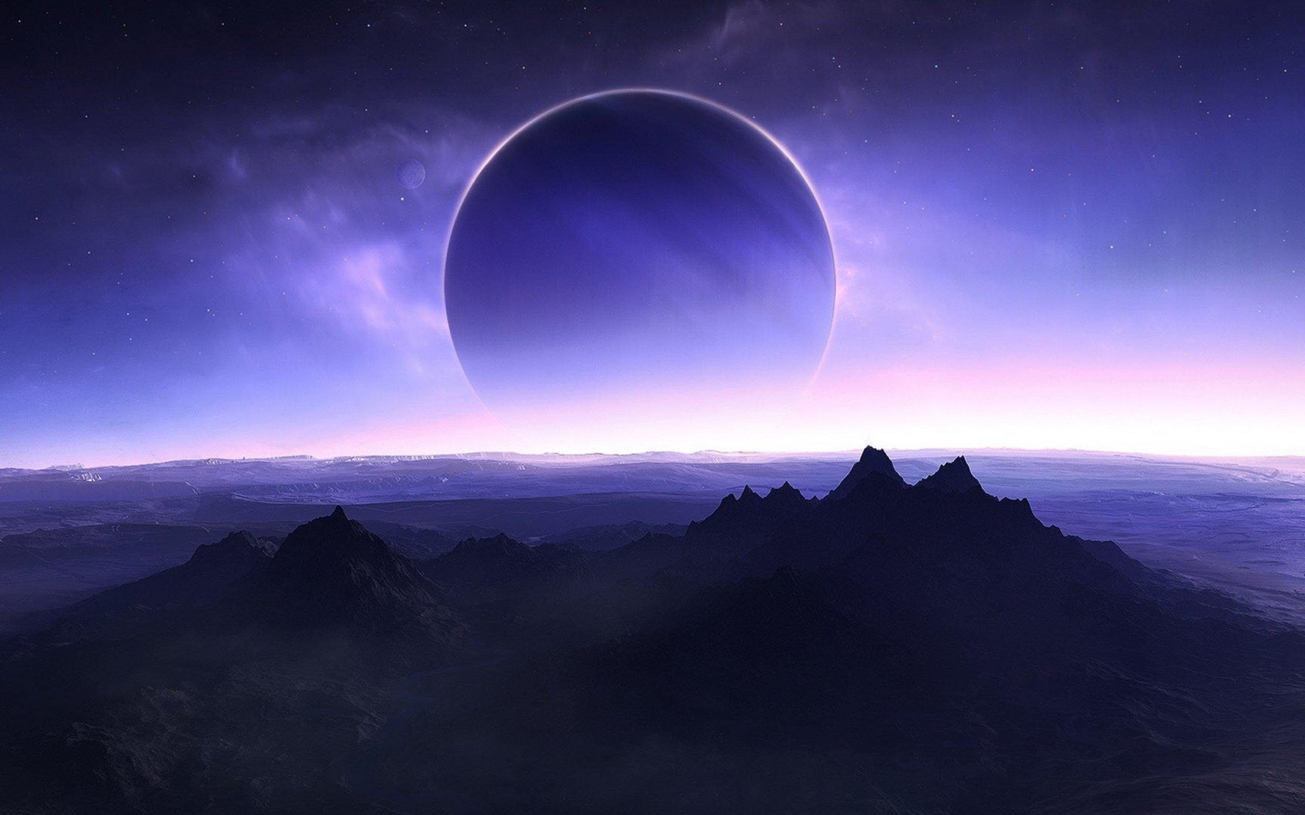 Planetscape sci-fi planet landscape space art artwork wallpaper | 2560x1600 | 660458 | WallpaperUP