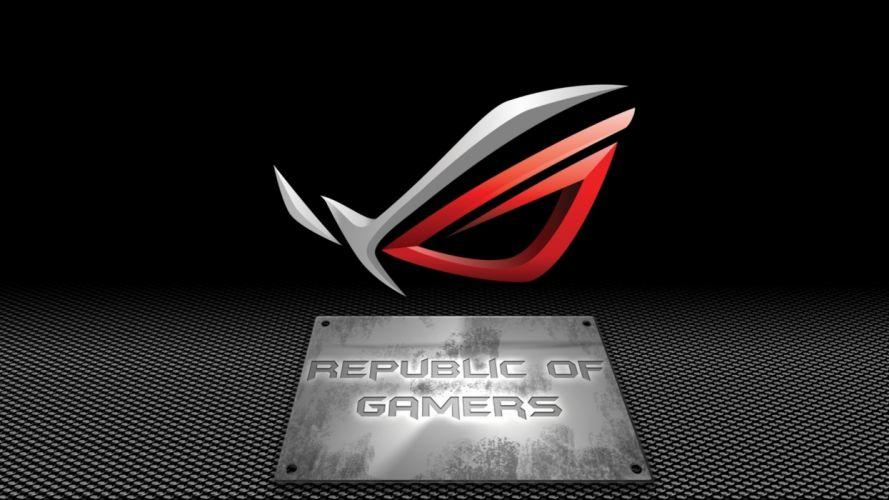 ASUS computer rog gamer republic gaming wallpaper