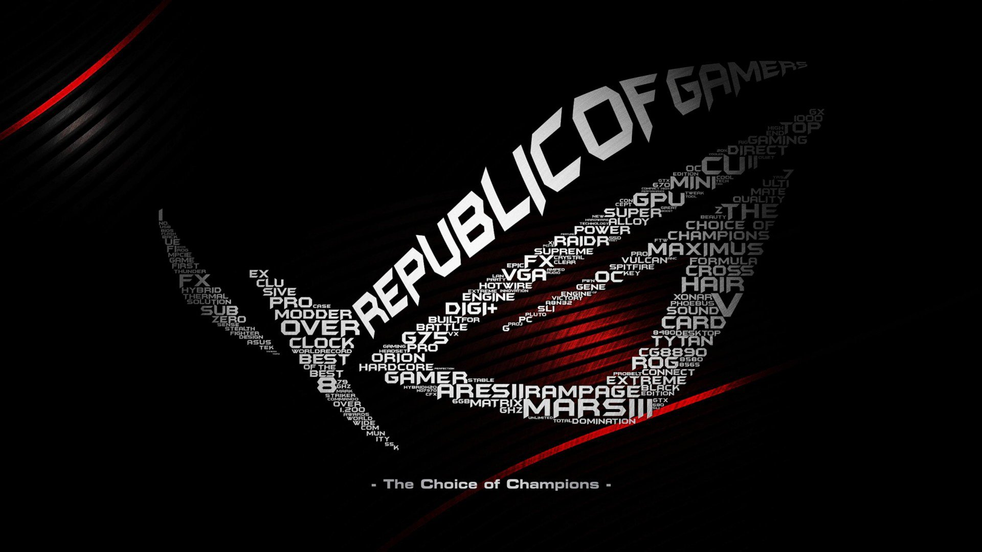 Asus computer rog gamer republic gaming wallpaper 1920x1080 asus computer rog gamer republic gaming wallpaper 1920x1080 660539 wallpaperup voltagebd Image collections