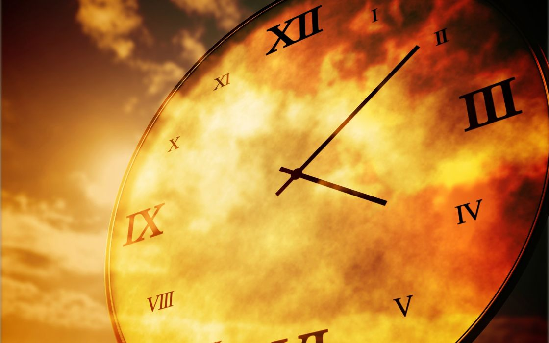 clock time clouds sky years days mood life wallpaper