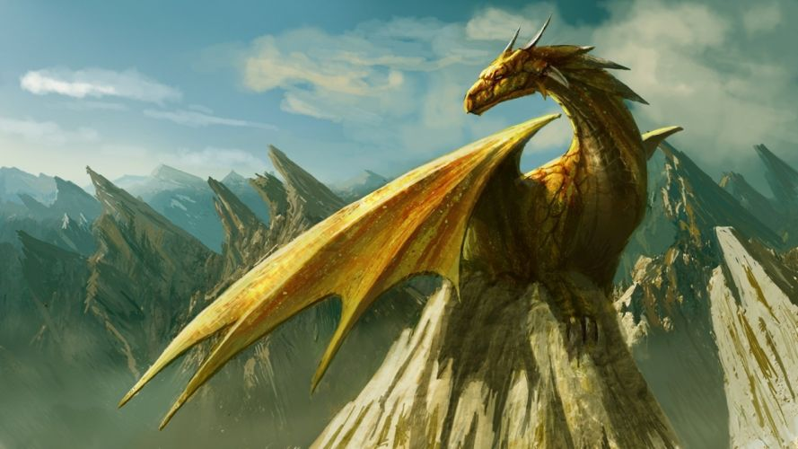 dragon fantasia montaA wallpaper