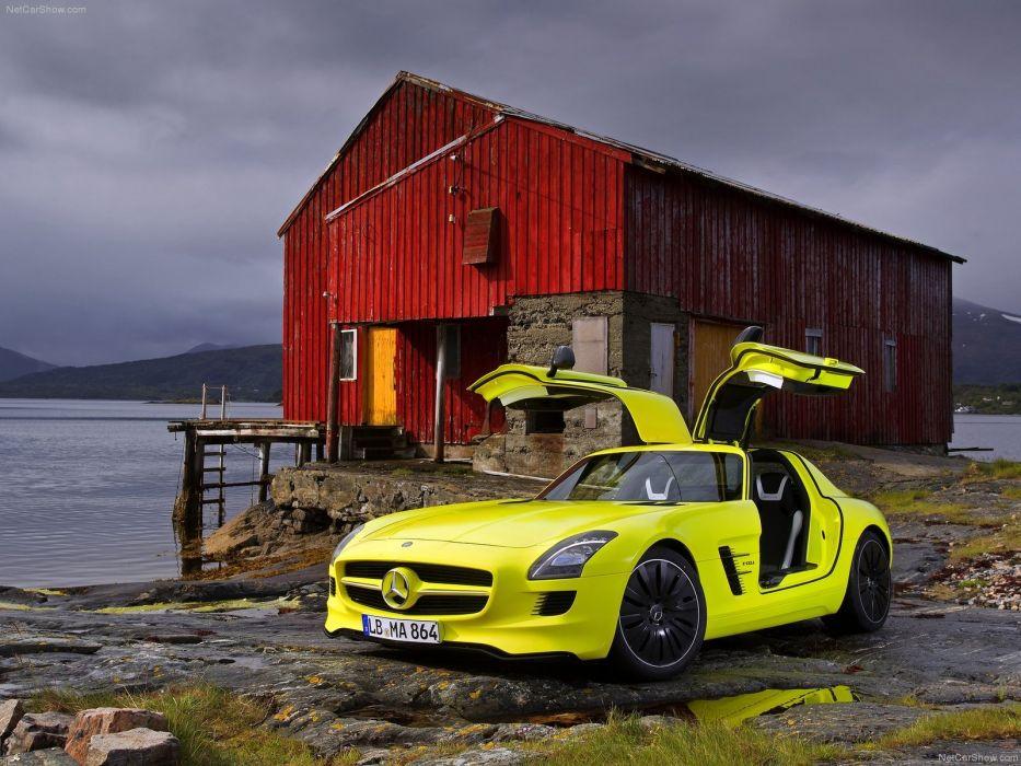 Mercedes Benz SLS AMG E-Cell Concept cars electric 2010 wallpaper