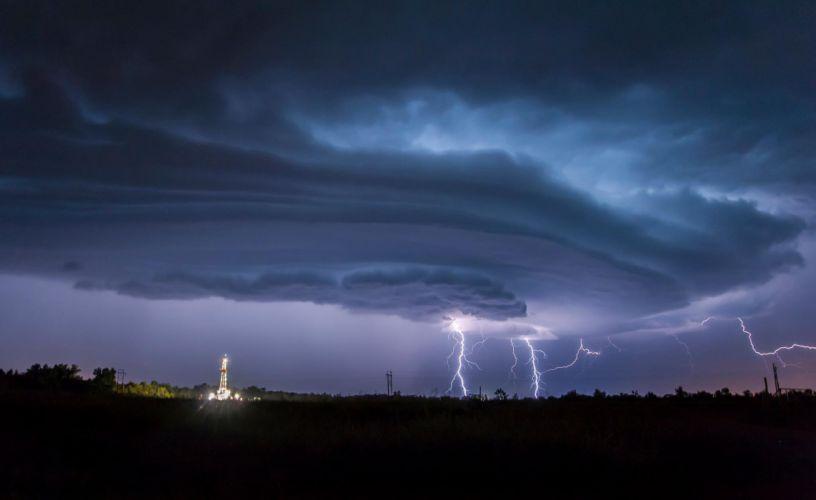 storm cyclone clouds rain lightning night nature wallpaper