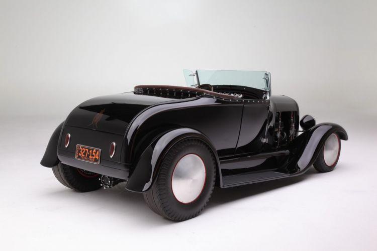 1929 Ford Roadster Hotrod Hot Rod Custom Old School USA 2048x1360-02 wallpaper