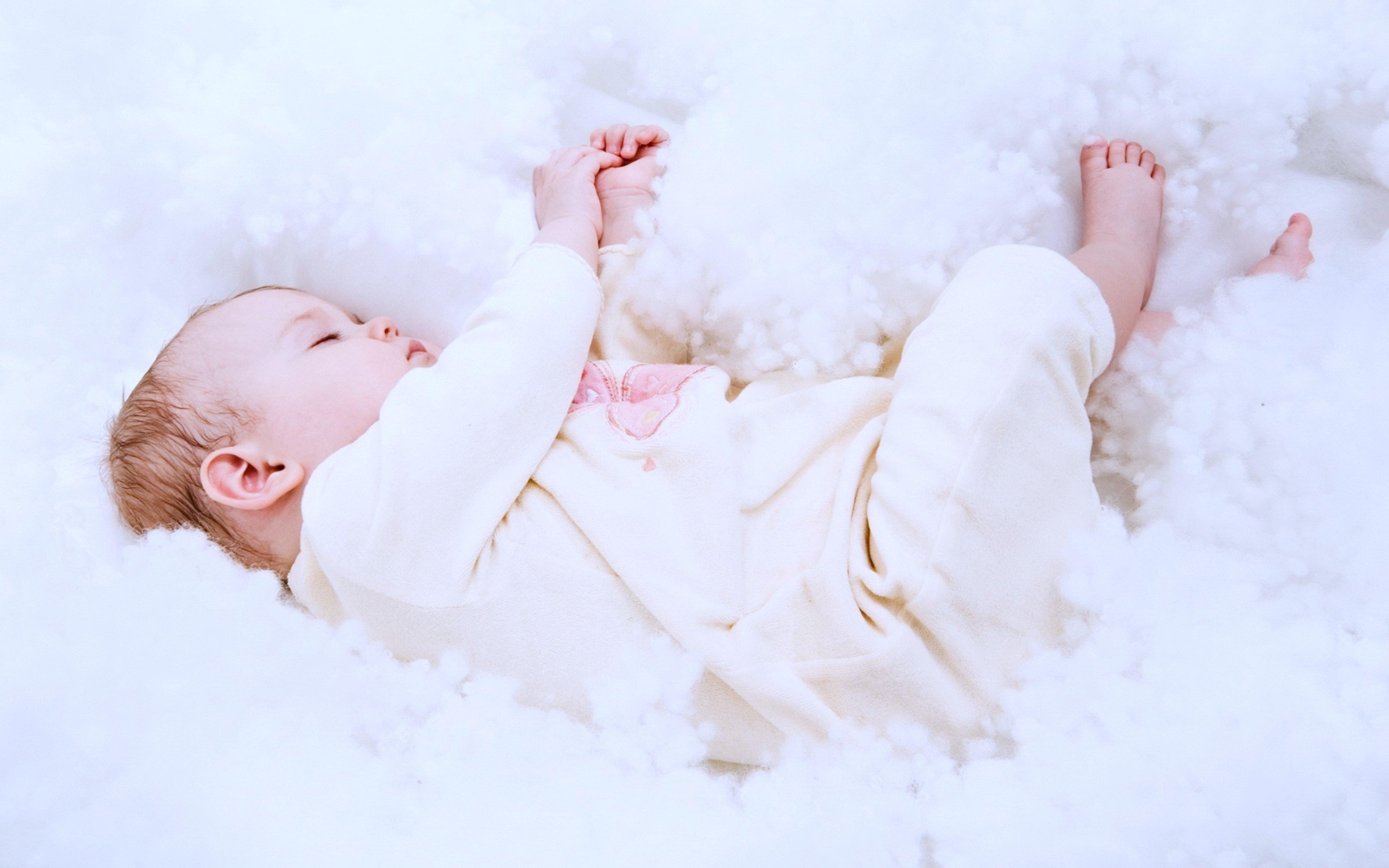 Baby Beautiful bed childhood children flower kids life little sleep ...