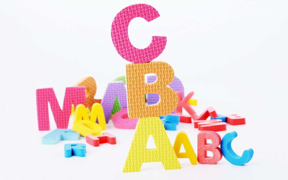 ABC letters alphabet Students study kids children school teacher teach wallpaper