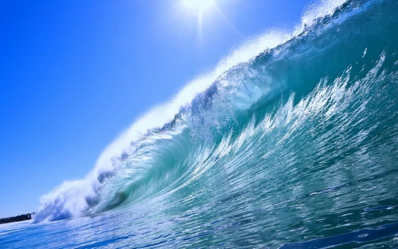 nature sea earth waves water sky sunny blue beaches ocean summer wallpaper