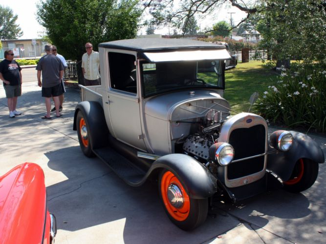 1928 Ford Pickup Model-A Hotrod Hot Rod Old School USA 3352x2514-01 wallpaper