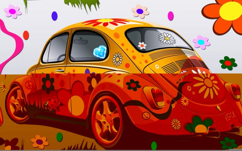 cars flowers drawing kids children Coloring drawing colors wallpaper