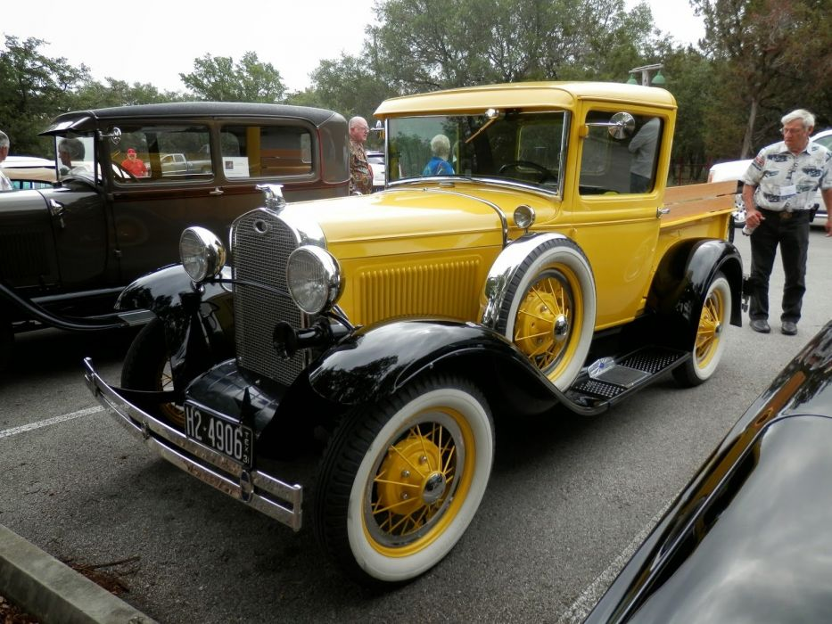 1931 Ford Model A Pickup Yellow Classic Old Vintage USA 1600x1200-01 wallpaper