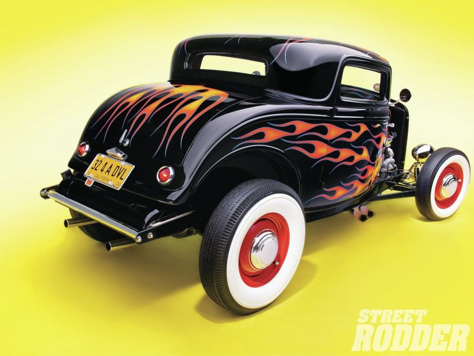 1932 Ford Coupe 3 Window Hotrod Hot Rod Old School USA 1600x1200-04 wallpaper