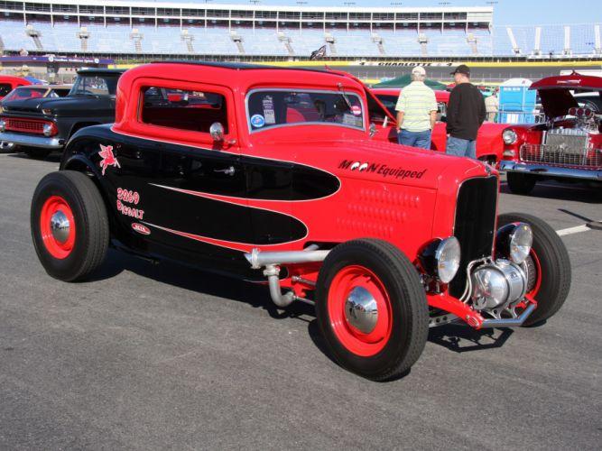 1932 Ford Coupe 3 Window Hotrod Hot Rod Custom Old School USA 3456x2592-02 wallpaper