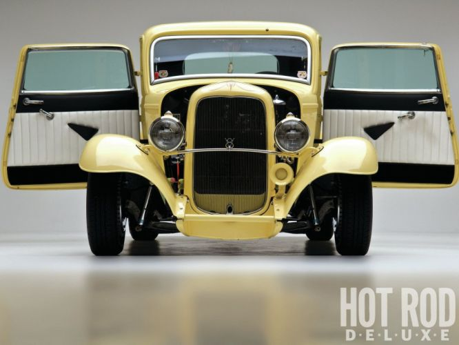 1932 Ford Coupe 3 Window Hotrod Hot Rod Old School USA 1600x1200-08 wallpaper
